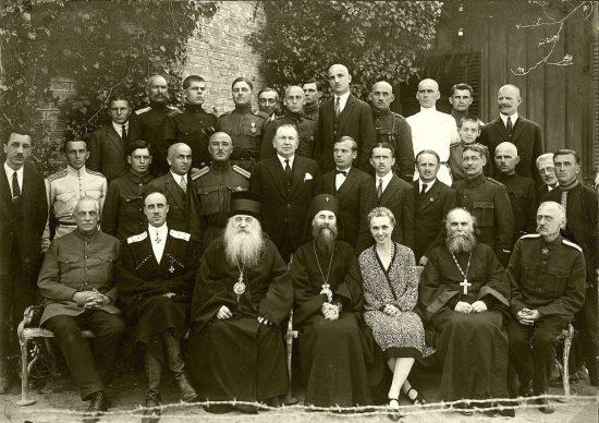 Барон генерал Петр Николаевич Врангель и Антоний Храповицкий в Югославии. 1927 год