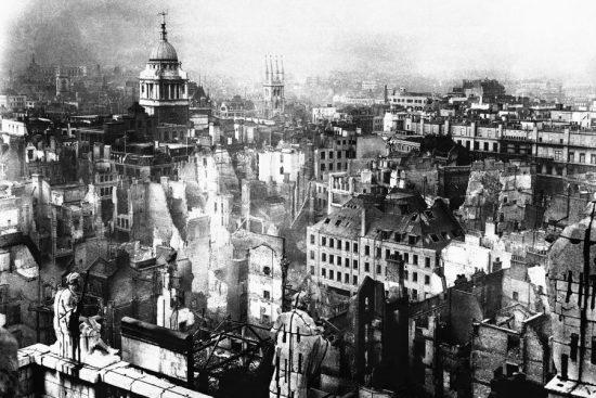 Лондон после бомбежек