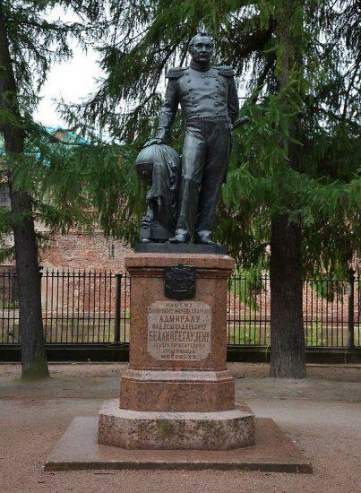 Памятник адмиралу Фаддею Фаддеевичу Беллинсгаузену в Кронштадте