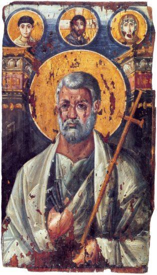 Петр. Энкаустическая икона. VI в. Монастырь св.Екатерины, Синай, Египет
