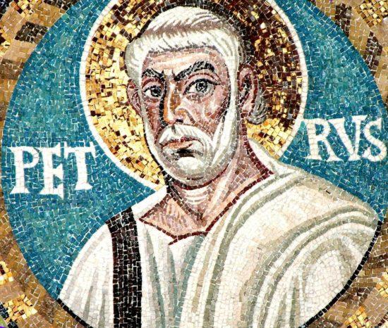 Апостол Петр. Мозаика базилики Сан Витале в Равенне. 546–548 г. Италия