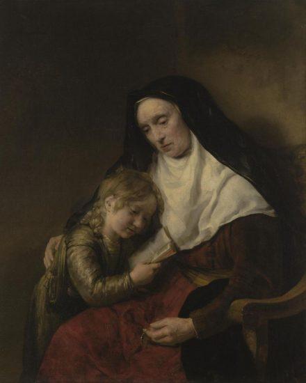 Виллем Дрост. Пророчица Анна и ребенок. Фото с сайта ГЭ. Новый Эрмитаж, зал № 254