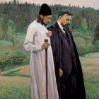 06_М.Нестеров_Философы (Флоренский и Бердяев)_1917 г