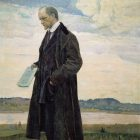 07_М_Нестеров_Мыслитель (Портрет И.А.Ильина)_1921-22 гг