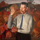 11 Б.Григорьев. Портрет А.М.Горького, 1926