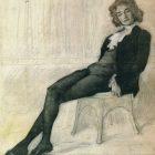 15 Л.Бакст. Портрет З.Н.Гиппиус, 1906