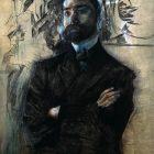 16 М.Врубель. Портрет В.Я.Брюсова, 1906