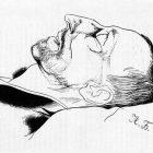 20а Ю.Анненков. Александр Блок в гробу, 1921