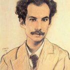 22 Л.Бакст. Портрет Андрея Белого, 1905