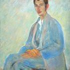 26 П.Кузнецов. Портрет С.М.Городецкого, 1924