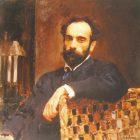 56_1_В.Серов. Портрет И.Левитана, 1893