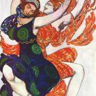 62_2_Л.Бакст. Эскиз костюмов к балету Нарцисс, 1911