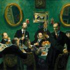 69_2_Б.Кустодиев. Групповой портрет мирискусников, 1916-20