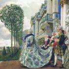 70_2_Е.Лансере. Выход императрицы Елизаветы в Царском, 1905