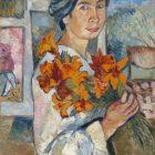 92_1_Н.Гончарова. Автопортрет с желтыми лилиями,1907