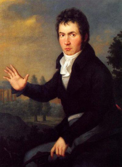 Бетховен, портрет кисти Йозефа Мэлера