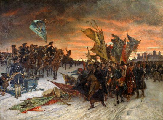 Победа шведов в битве при Нарве. Густав Седерстрём