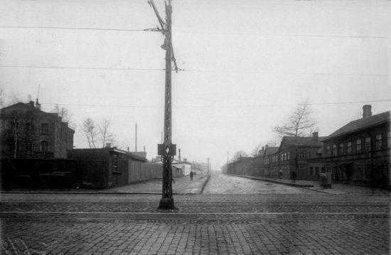 Угол Шлиссельбургского проспекта и Смоляной улицы, 1934 год